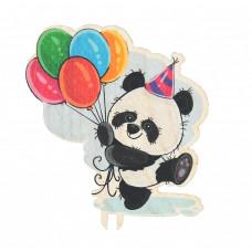 Панда с шариками