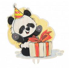 Панда с подарком