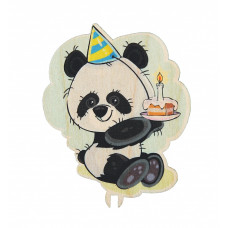 Панда с тортиком